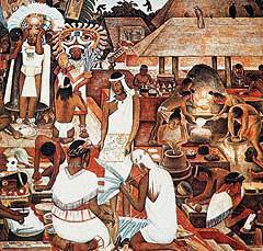 Aspecto de la cultura zapoteca, que formaba parte del imperio azteca.
